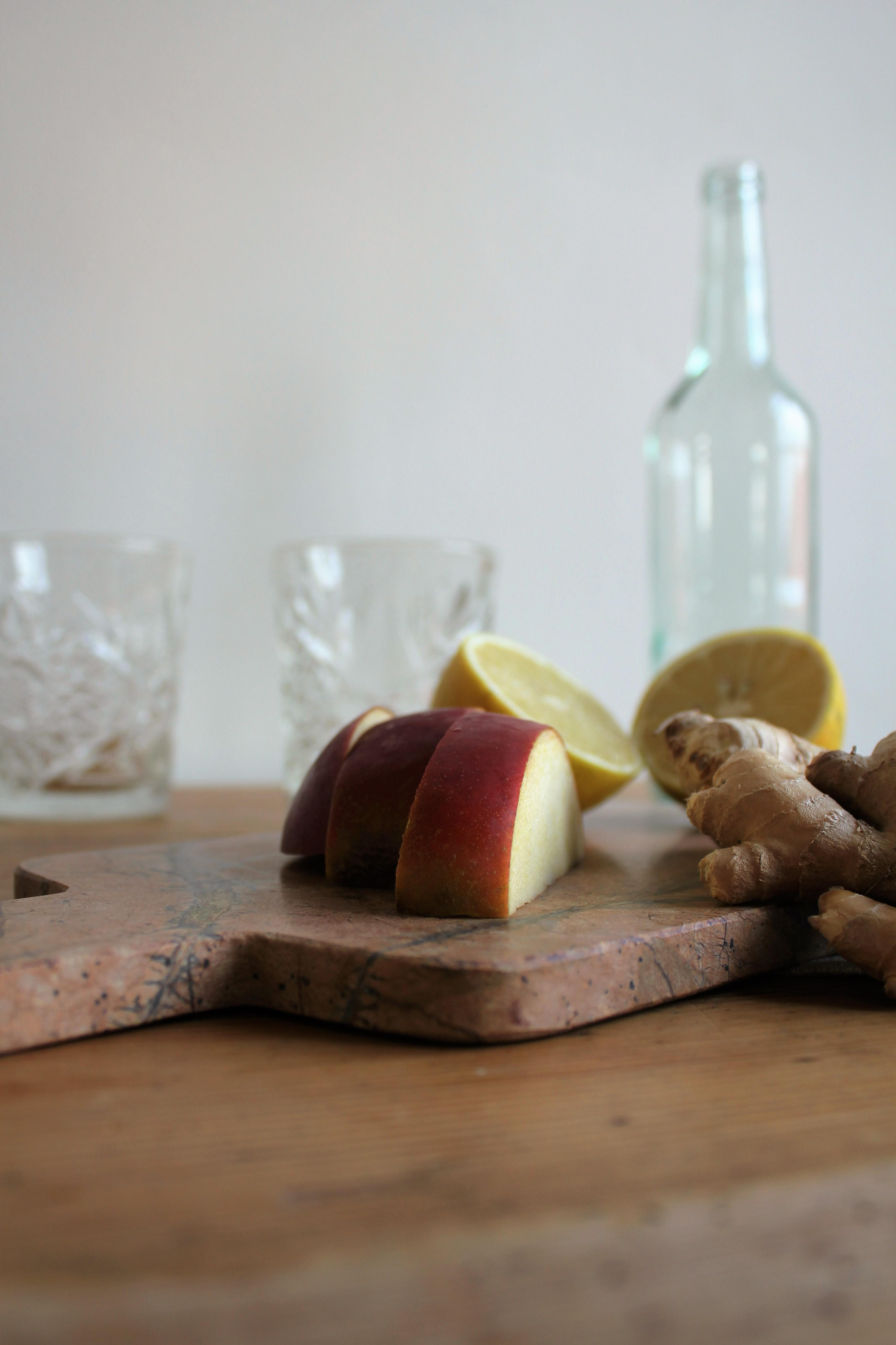 Ingefærshot med æble og citron