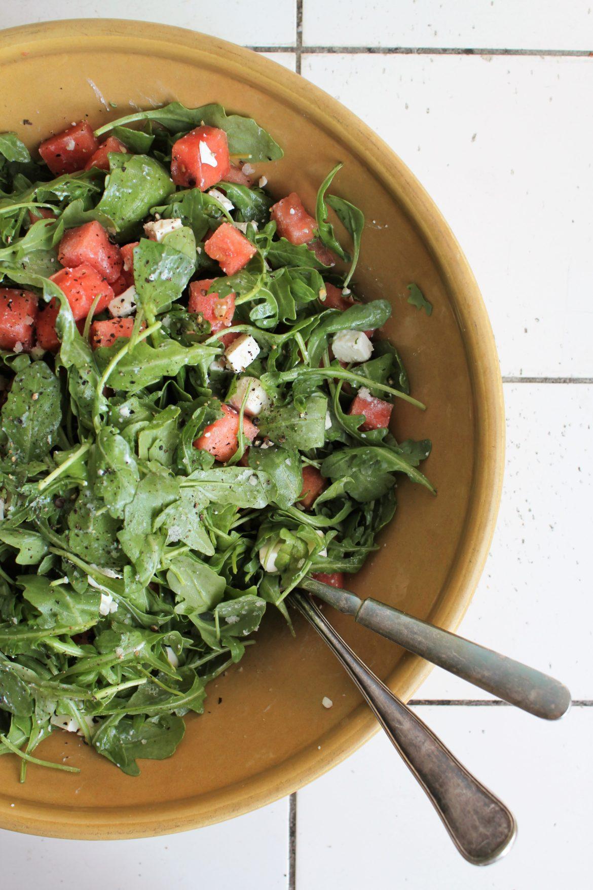 Vandmelon salat