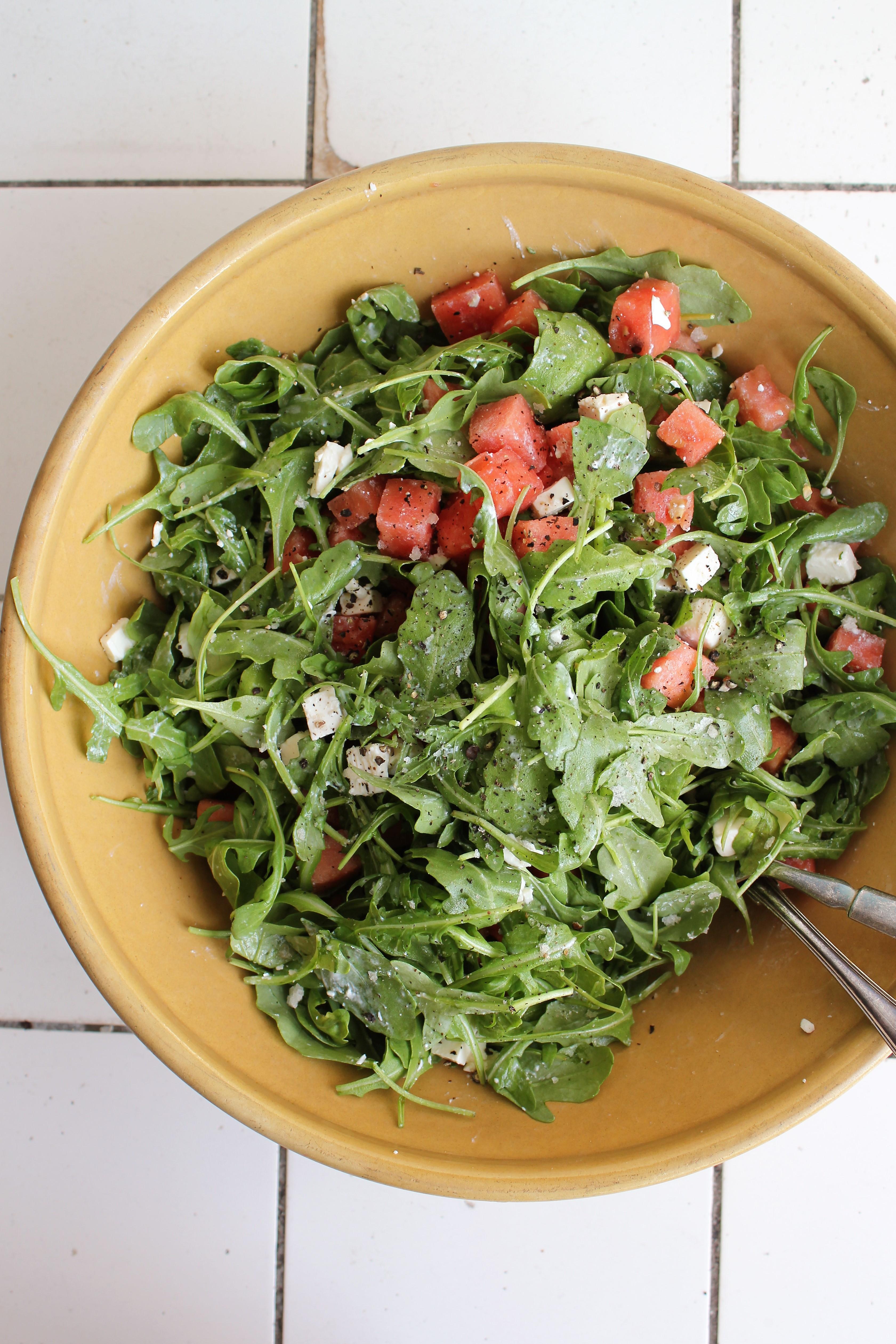 Vandmelon salat og feta