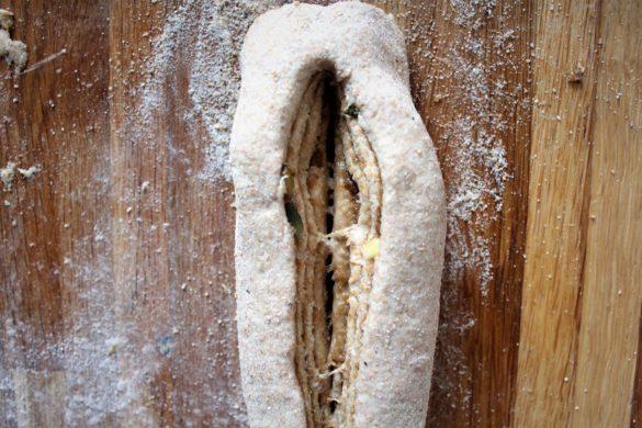 Snoet kanelbrød med marzipan remonce
