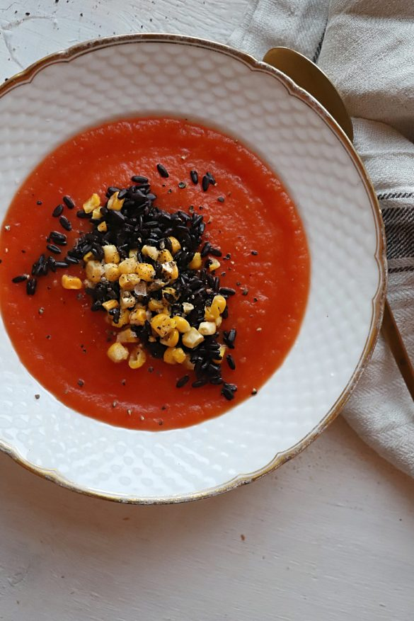 vegetarisk tomatsuppe