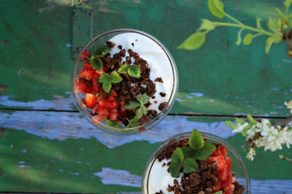 ymertrifli med jordbær